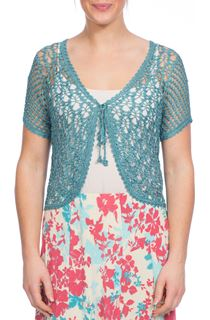 Anna Rose Crochet Cover Up - Blue