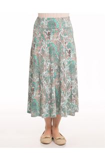 Anna Rose Mottled Print Skirt