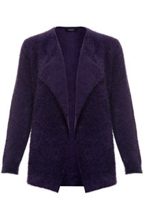 Feather Knit Cardigan - Purple