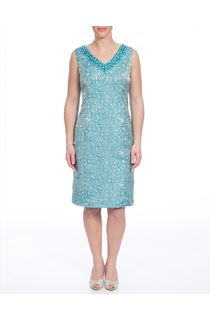 Anna Rose Floral Jacquard Dress