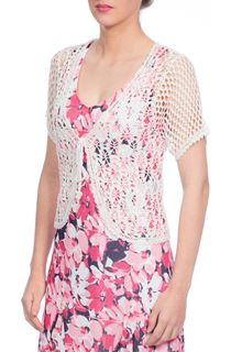 Anna Rose Crochet Cover Up - White