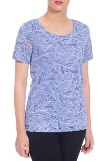 Anna Rose Burn Out Leaf Top - Purple