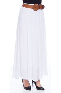 Crinkle Maxi Skirt - White