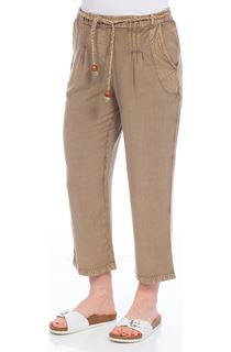 Anna Rose Washed Crop Trousers - Ivory