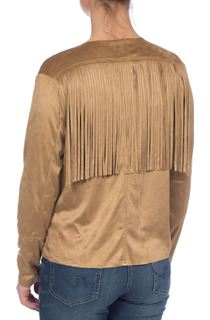 Fringed Suedette Jacket