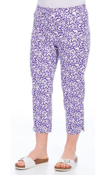 Baroque Print Cropped Trousers