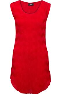 Wave Pleat Tunic - Red