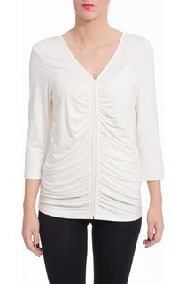 Ruched Front Top - Cream