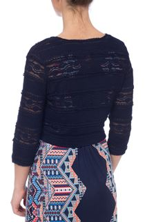 Lace Tie Cover Up - Blue