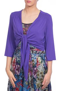 Jersey Tie Cover Up - Purple