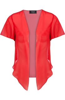 Chiffon Drape Cover Up - Orange/Red