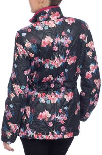 Rose Print Quilted Coat