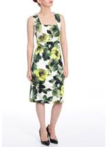In Bloom Floral Print Scuba Dress