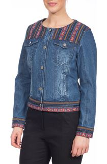 Braid Trim Denim Jacket