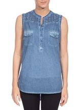Sleeveless Washed Top