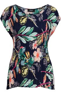 Garden Print Pleat Top