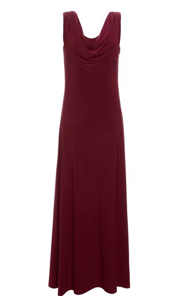 Cowl Neck Glam Maxi Dress