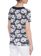 Anna Rose Floral Stamp Print Top