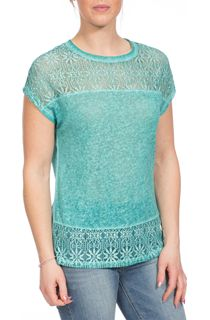 Lace Trim Top - Green