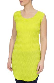 Wave Pleat Tunic - Green