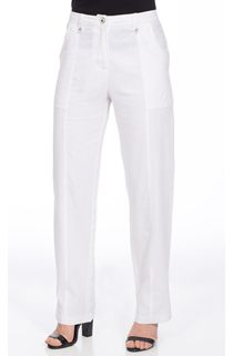 Linen Blend Trousers - White
