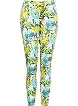 Floral Print Elasticated Waist Scuba Trousers
