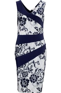 Anna Rose Midi Lace Design Sleeveless Dress