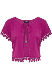 Short Sleeve Jersey Cover Up - Pink