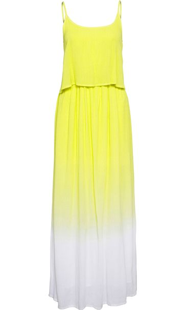 Dip Dye Crinkle Crepe Strappy Maxi Dress