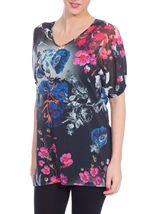 Floral Embellished Chiffon Cover Up