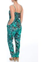Strappy Leaf Print Jumpsuit