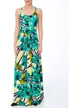 Bold Floral Printed Sleeveless Maxi Dress