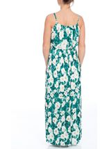 Floral Printed Chiffon Pleat Maxi Dress