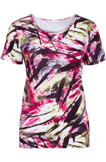 Anna Rose Round Neck Print Top