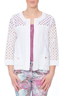 Broderie Anglaise Linen Blend Jacket