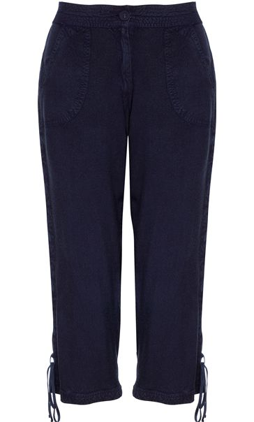 Anna Rose Washed Crop Trousers