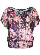 Floral Printed Smocked Hem Top