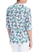 Anna Rose Three Quarter Sleeve Butterfly Blouse