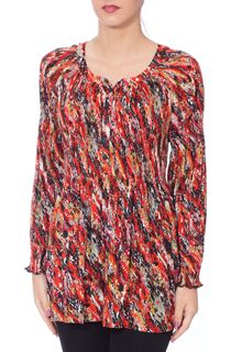 Pleated Splash Print Georgette Top