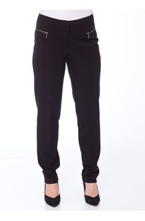 Slim Leg 29 Inch Trousers - Black