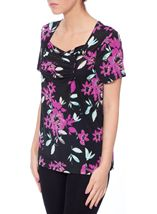 Anna Rose Panelled Floral Top