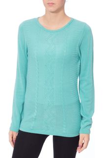 Anna Rose Embellished Knitted Top - Green
