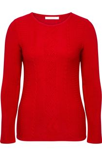 Anna Rose Embellished Knitted Top - Red