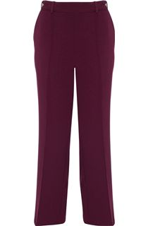 Anna Rose 27 Inch Straight Leg Trousers - Red