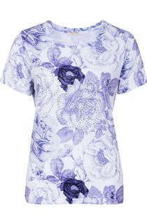 Anna Rose Floral Print Embellished Top