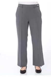 Anna Rose 27 Inch Straight Leg Trousers - Charcoal