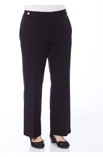 Anna Rose 29 Inch Straight Leg Trousers - Black
