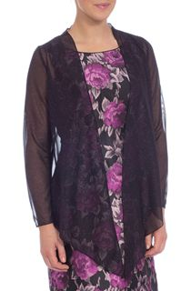 Anna Rose Sparkle Sheer Cover Up - Black