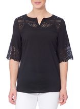 Laser Cut Crepe Top