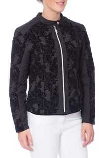 Lace Flock Zip Coat